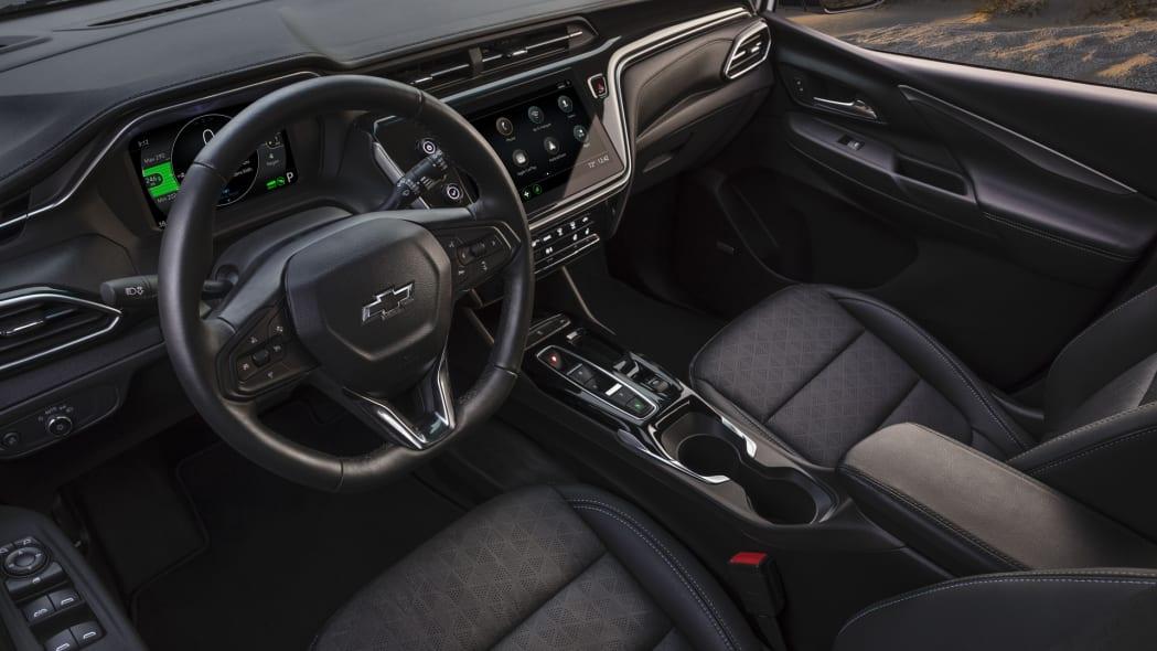 2022 Chevrolet Bolt EV interior above