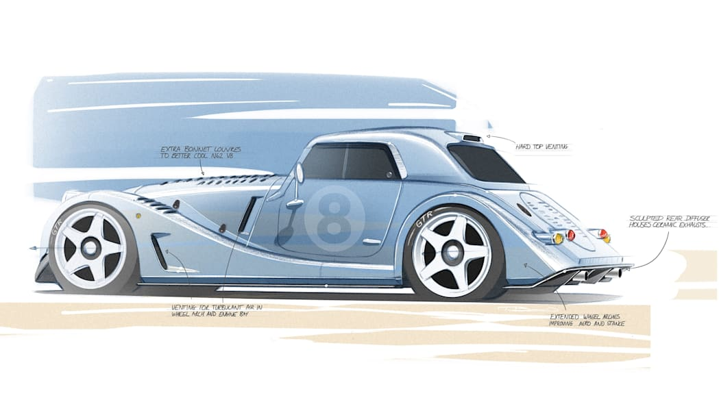 Morgan Plus 8 GTR design sketch