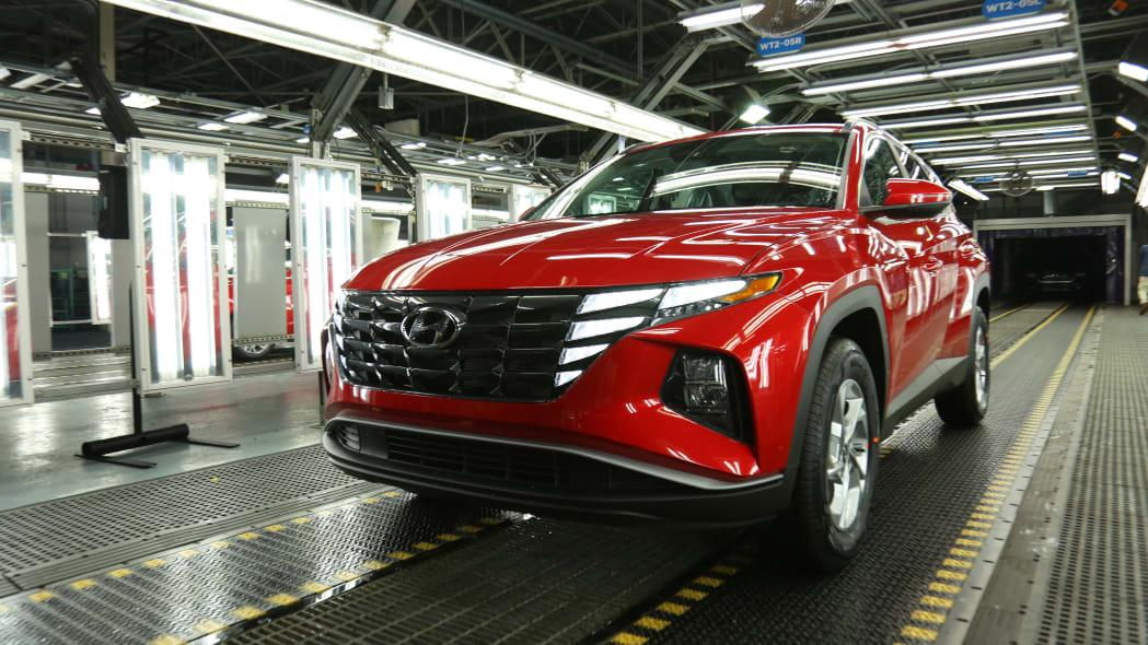 2022 Hyundai Tucson production