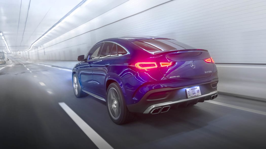 2021 Mercedes-AMG GLE 63 S Coupe left rear tunnel