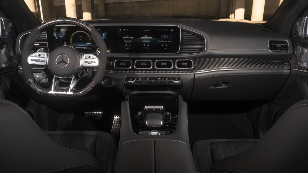 2021 Mercedes-AMG GLE 63 S Coupe full interior from back seat