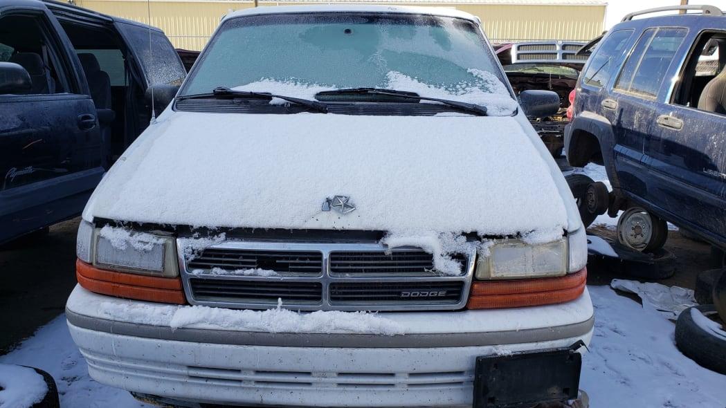 19 - 1992 Dodge Caravan in Colorado Junkyard - photo by Murilee Martin