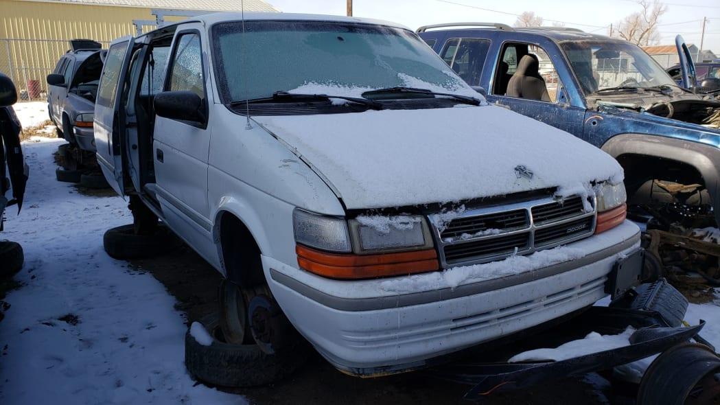 21 - 1992 Dodge Caravan in Colorado Junkyard - photo by Murilee Martin