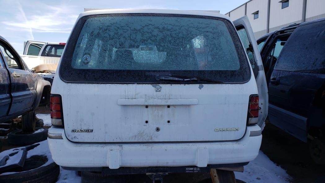 25 - 1992 Dodge Caravan in Colorado Junkyard - photo by Murilee Martin
