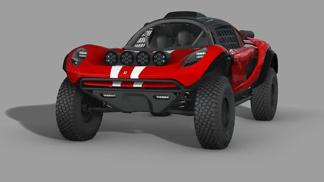 Glickenhaus 008 Baja Dakar Buggy rendering