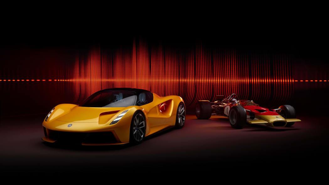Lotus Evija and Lotus Type 49