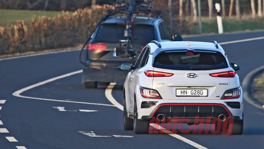 Hyundai Kona N spy photos undisguised