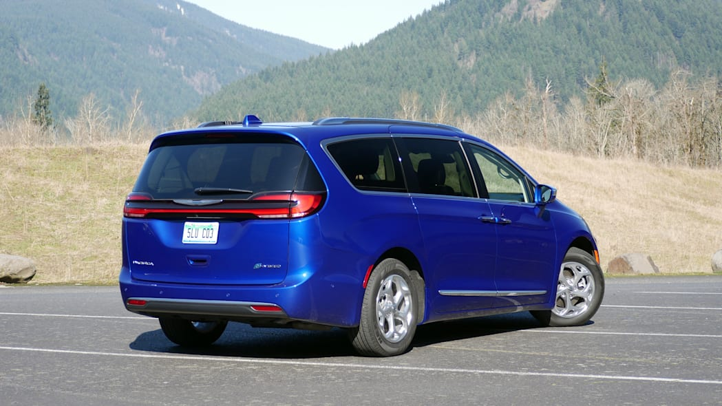 2021 Chrysler Pacifica Hybrid Limited rear three quarter