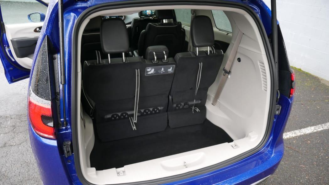 2021 Chrysler Pacifica Hybrid Limited interior cargo behind third row