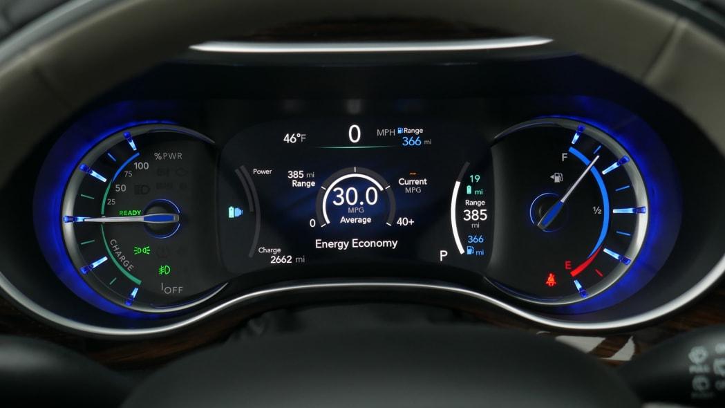 2021 Chrysler Pacifica Hybrid Limited interior gauges