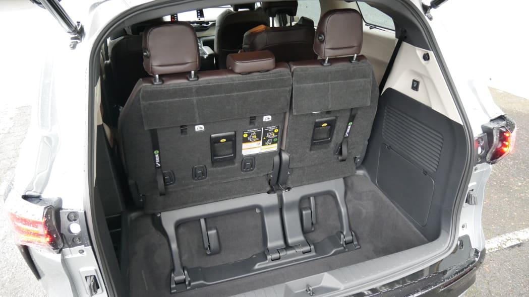 2021 Toyota Sienna interior cargo behind third row