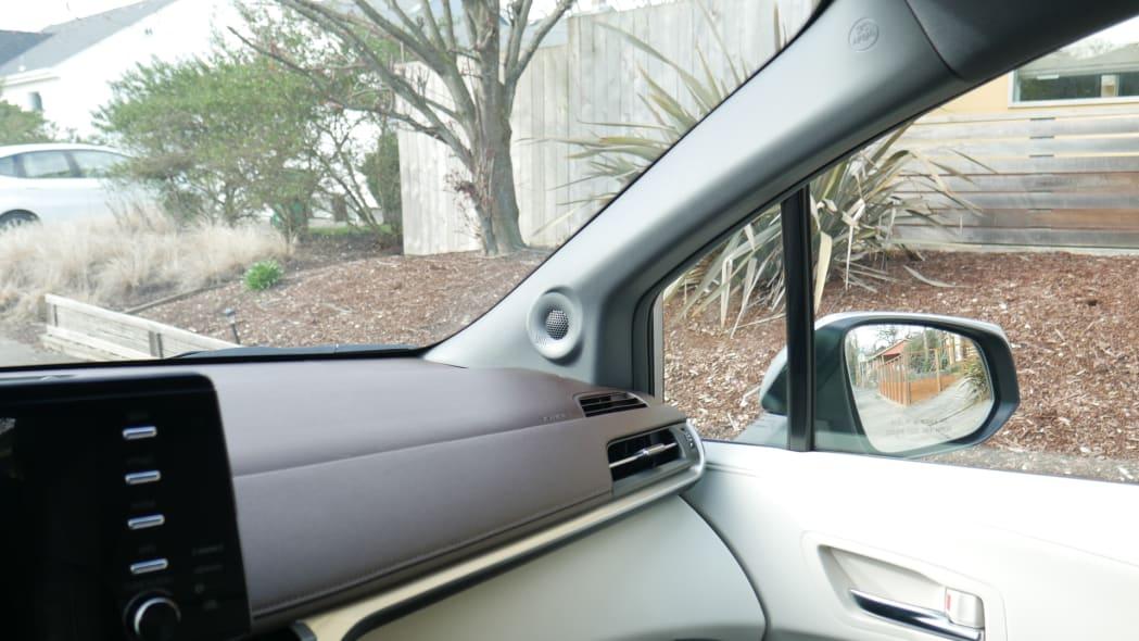 2021 Toyota Sienna interior front three quarter view