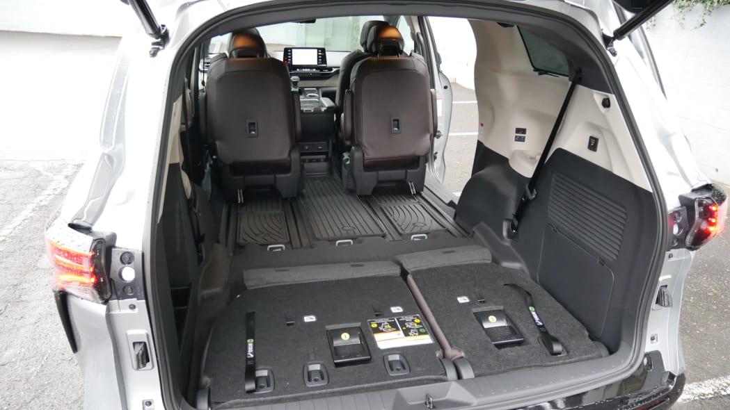 2021 Toyota Sienna interior maximum cargo