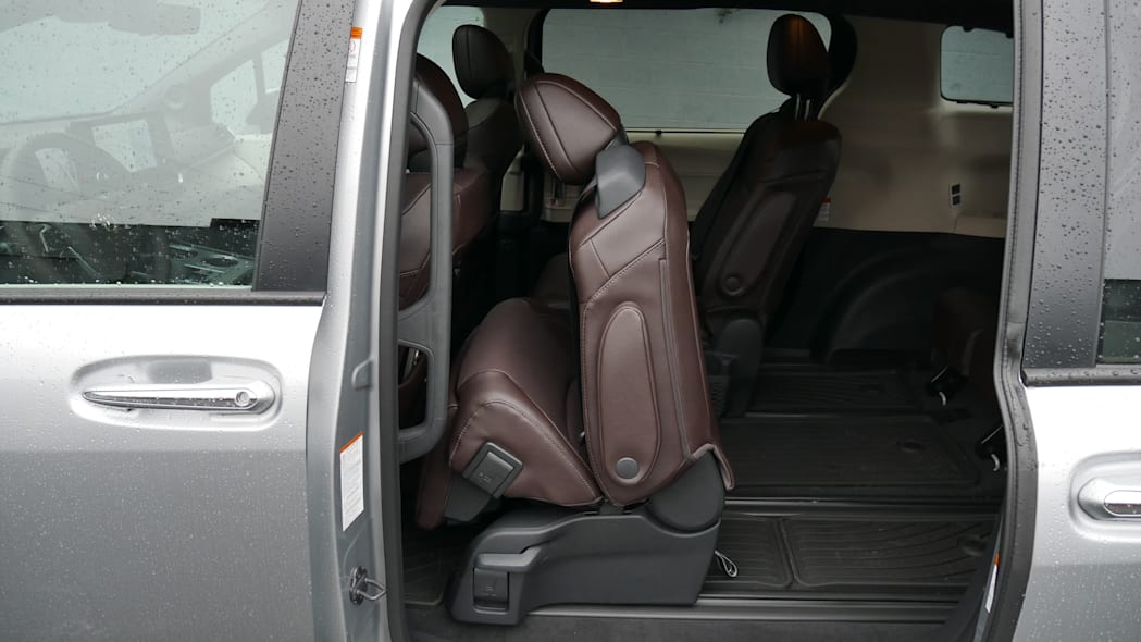 2021 Toyota Sienna interior second row pass through to third row