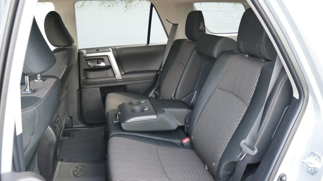 2021 Toyota 4Runner Trail Edition interior back seat armrest