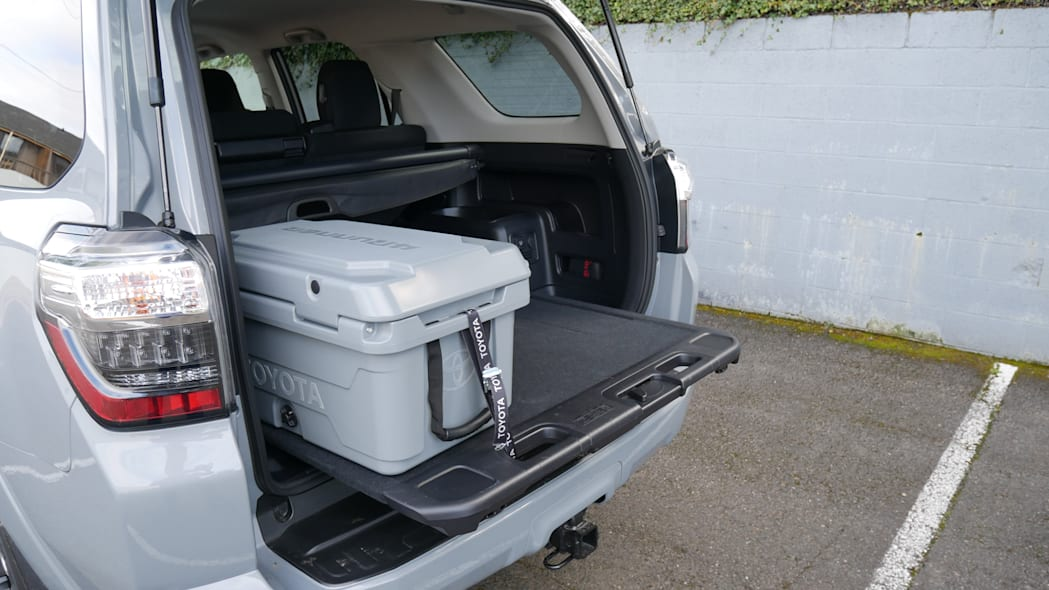 2021 Toyota 4Runner Trail Edition interior cargo tray out