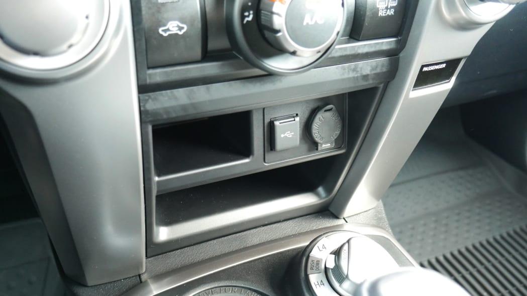 2021 Toyota 4Runner Trail Edition interior center stack storage