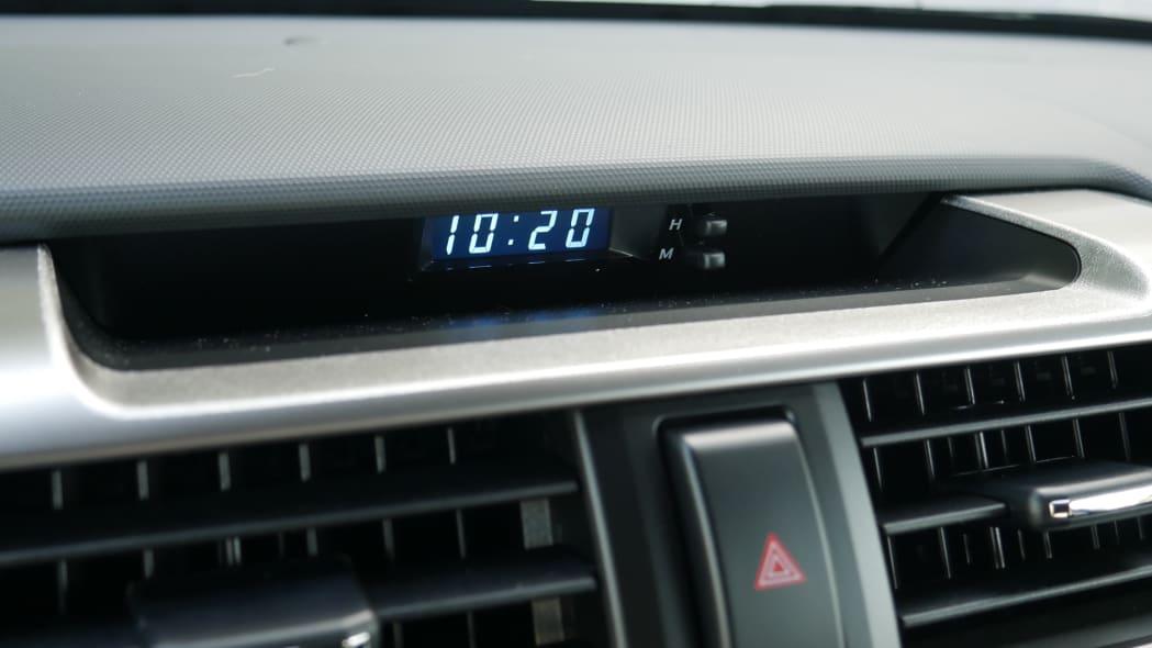 2021 Toyota 4Runner Trail Edition interior clock