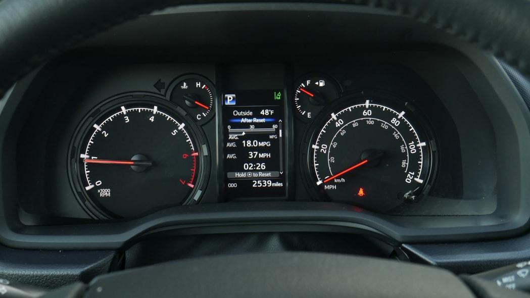 2021 Toyota 4Runner Trail Edition interior gauges