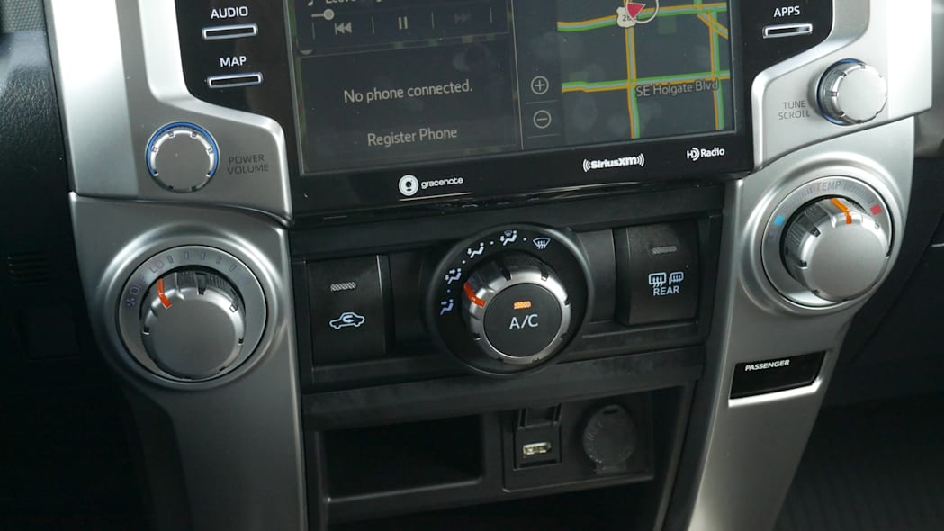 2021 Toyota 4Runner Trail Edition interior manual climate controls