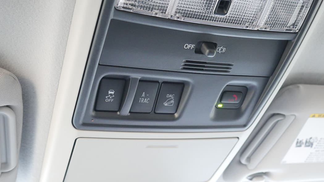 2021 Toyota 4Runner Trail Edition interior overhead controls