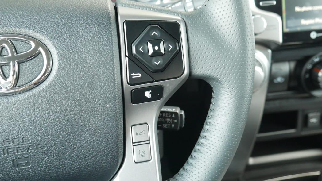 2021 Toyota 4Runner Trail Edition interior steering wheel controls