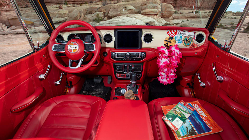 Jeepster Beach interior