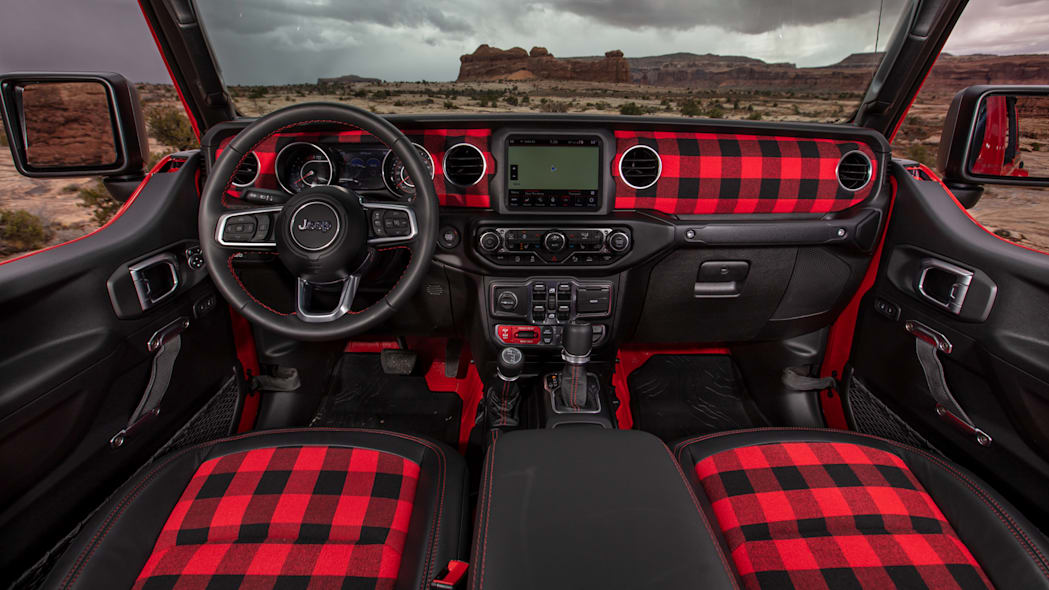 Jeep Gladiator Red Bare Interior