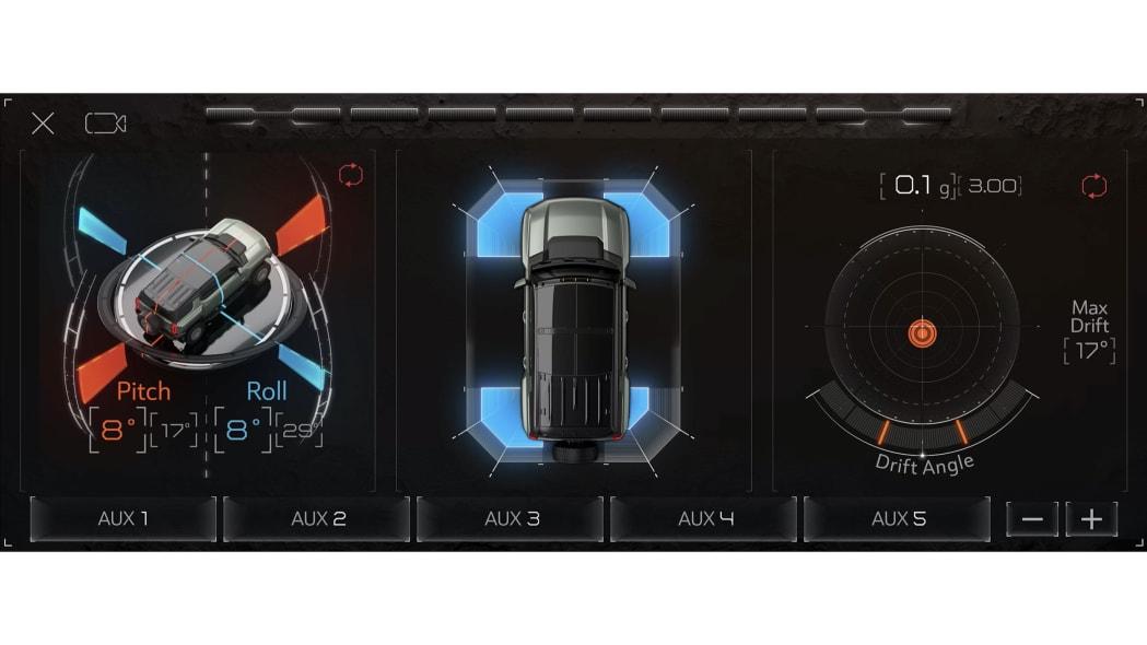 2024 Hummer EV SUV screen