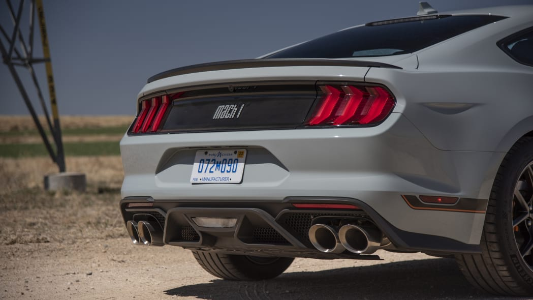 2021 Ford Mustang Mach 1 rear detail