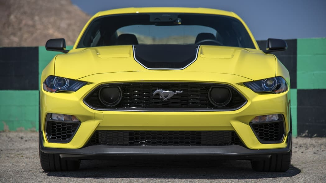 2021 Ford Mustang Mach 1 front yellow