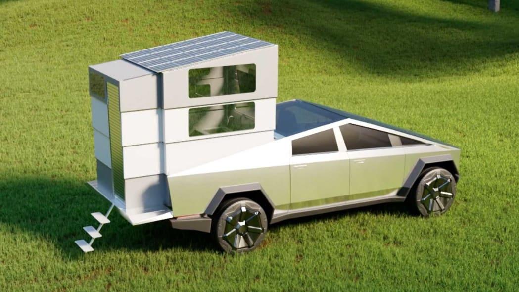 cyberlandr-truck-camper-for-tesla-cybertruck-extending