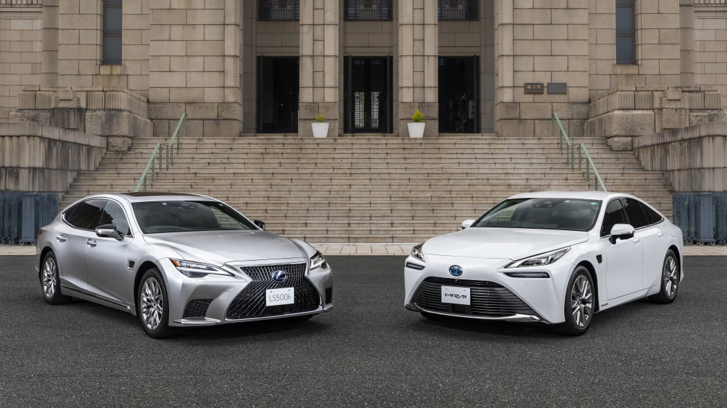 Toyota Mirai and Lexus LS with Advanced Drive