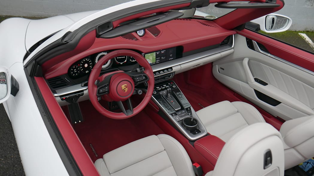 2021 Porsche 911 Turbo Cabriolet Exclusive Manufaktur interior from above