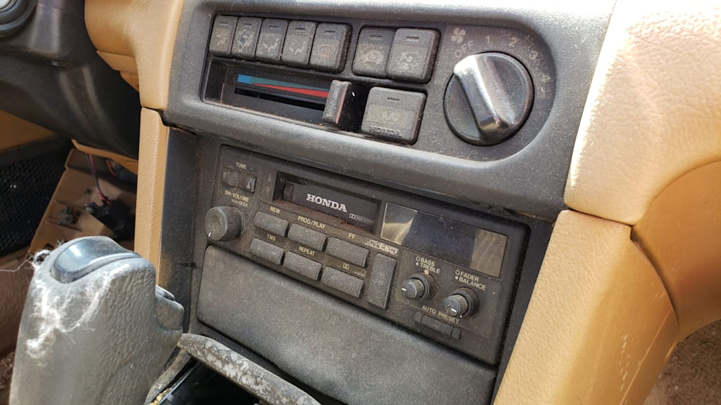 14 - 1989 Honda Prelude Si 4WS in Colorado junkyard - photo by Murilee Martin