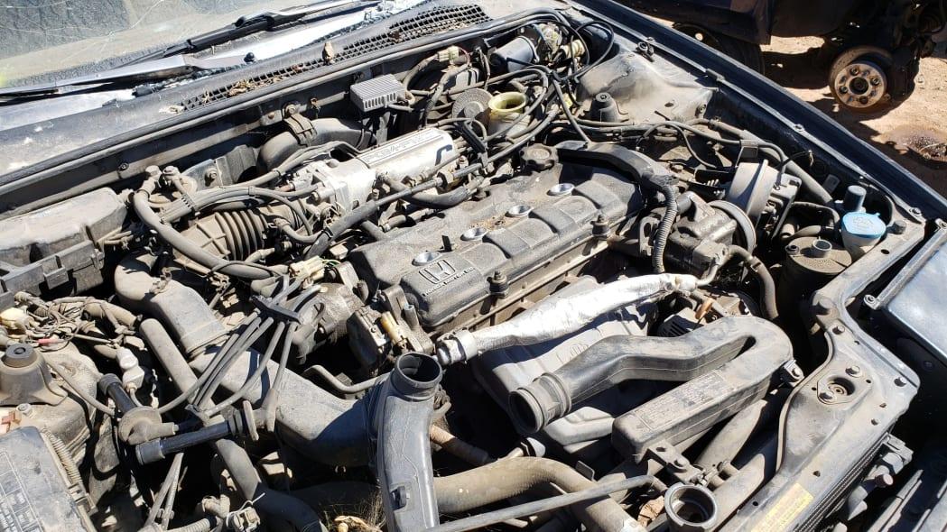 15 - 1989 Honda Prelude Si 4WS in Colorado junkyard - photo by Murilee Martin