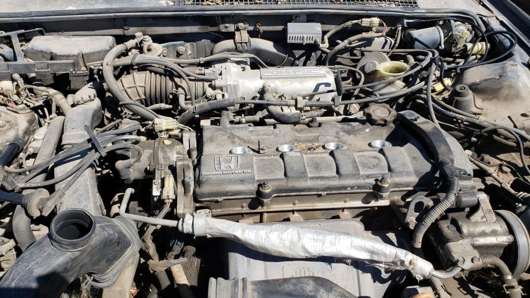 17 - 1989 Honda Prelude Si 4WS in Colorado junkyard - photo by Murilee Martin