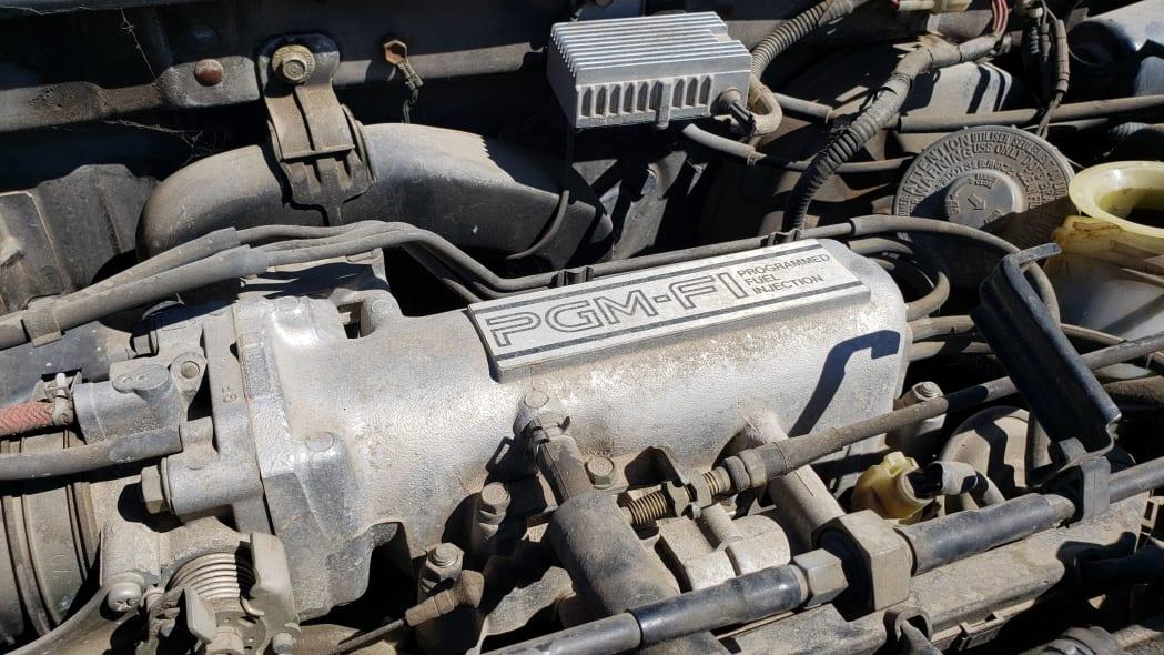18 - 1989 Honda Prelude Si 4WS in Colorado junkyard - photo by Murilee Martin