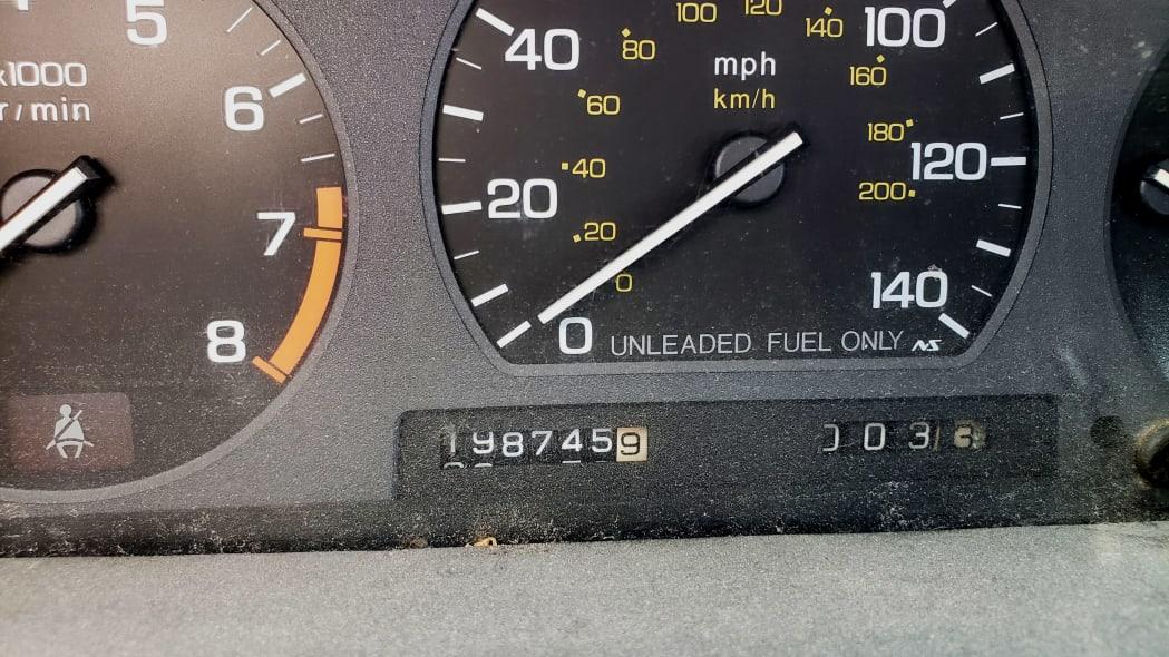 31 - 1989 Honda Prelude Si 4WS in Colorado junkyard - photo by Murilee Martin