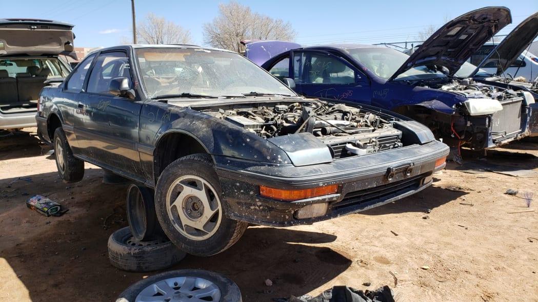 36 - 1989 Honda Prelude Si 4WS in Colorado junkyard - photo by Murilee Martin