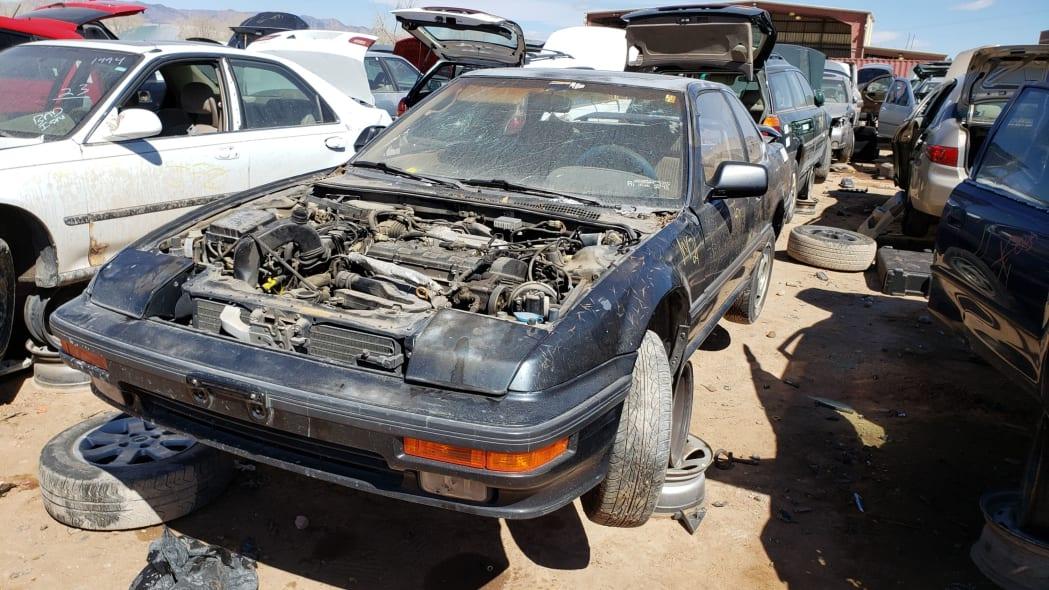 40 - 1989 Honda Prelude Si 4WS in Colorado junkyard - photo by Murilee Martin