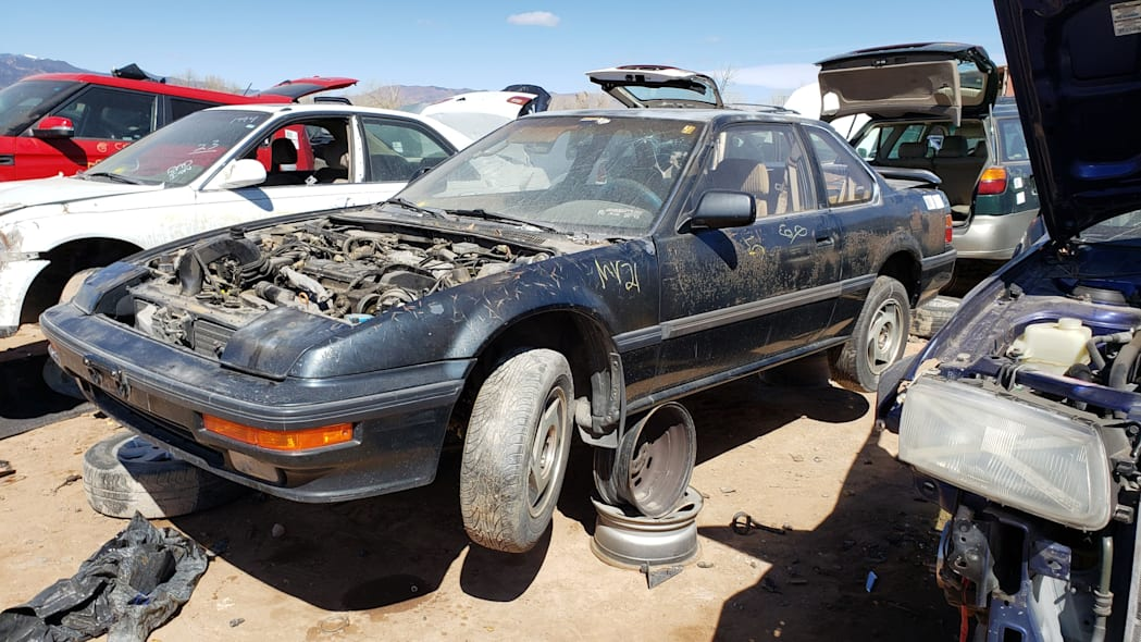 44 - 1989 Honda Prelude Si 4WS in Colorado junkyard - photo by Murilee Martin