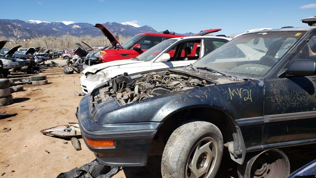 45 - 1989 Honda Prelude Si 4WS in Colorado junkyard - photo by Murilee Martin