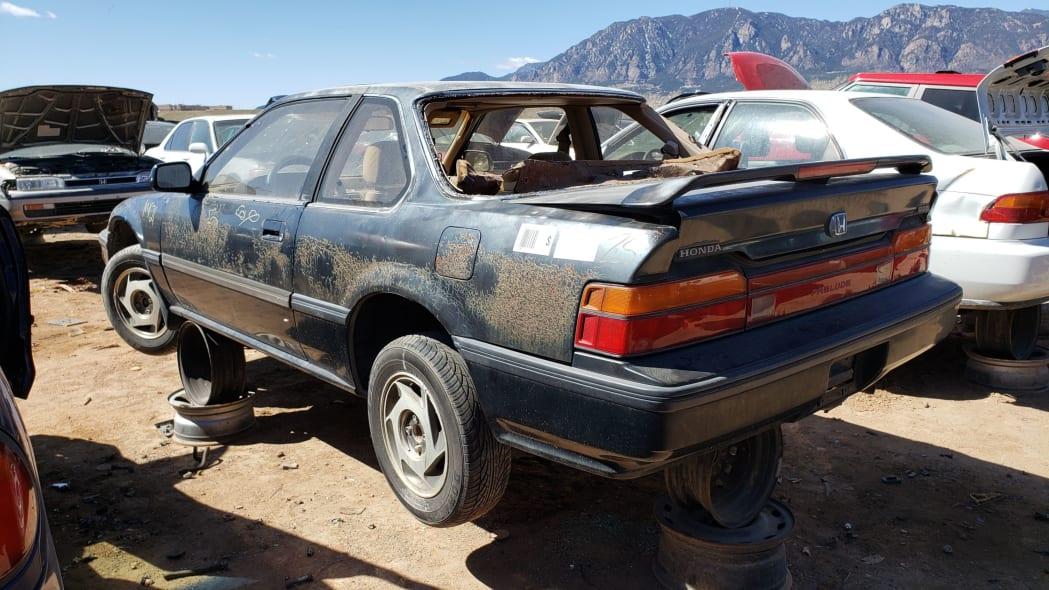 46 - 1989 Honda Prelude Si 4WS in Colorado junkyard - photo by Murilee Martin