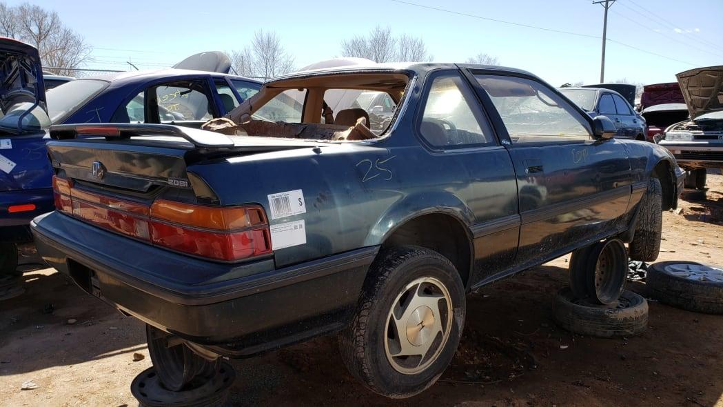 53 - 1989 Honda Prelude Si 4WS in Colorado junkyard - photo by Murilee Martin