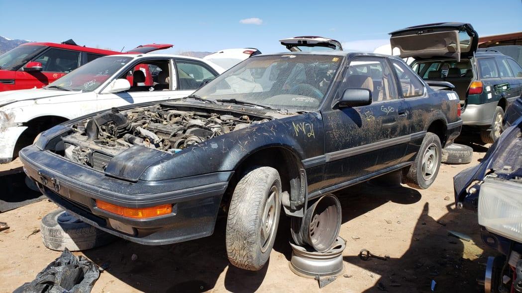 99 - 1989 Honda Prelude Si 4WS in Colorado junkyard - photo by Murilee Martin