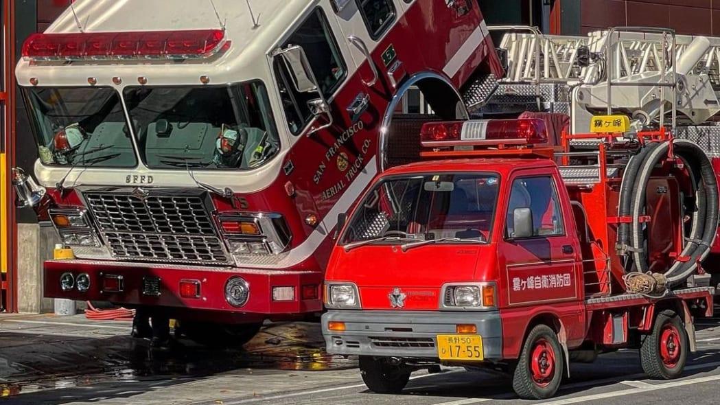 Daihatsu Hijet Fire Truck Kiri San Francisco 07