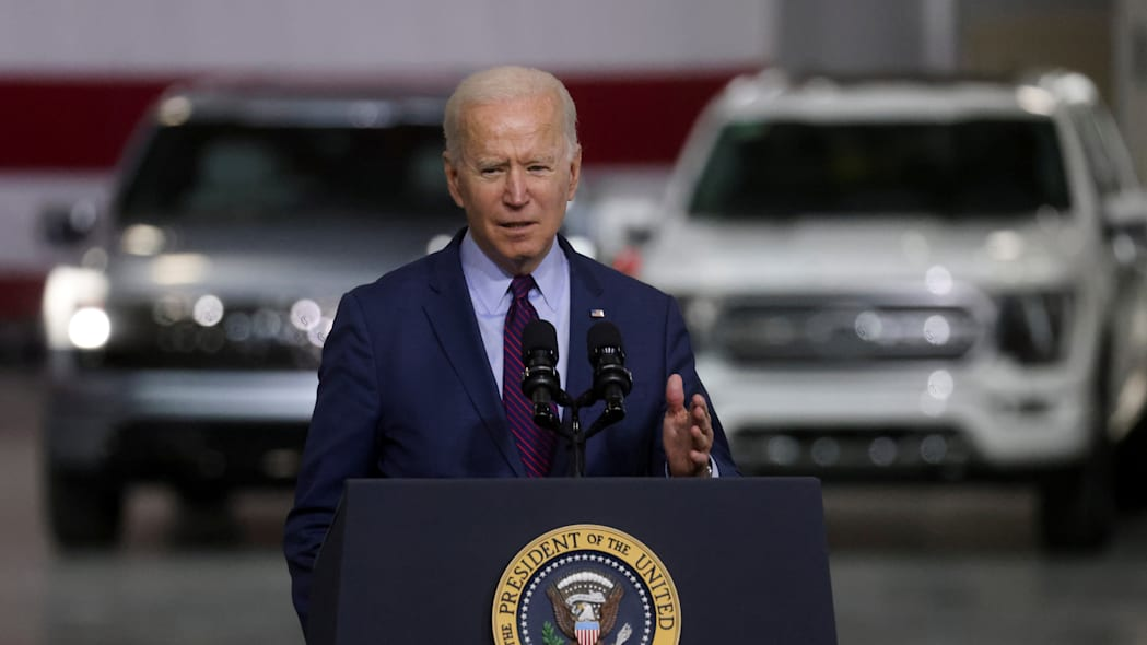 U.S. President Joe Biden visits Ford Rouge Electric Vehicle Center in Dearborn