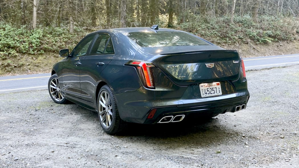 Cadillac CT4-V rear with exhaust