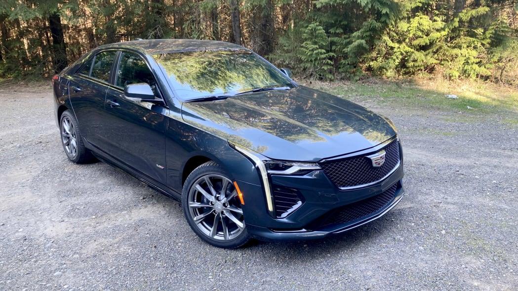 Cadillac CT4-V high three quarter forest